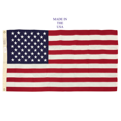 "G-Spec US 100 % Cotton Flag 2' 4 7/16"" x 4' 6"" USA MADE"