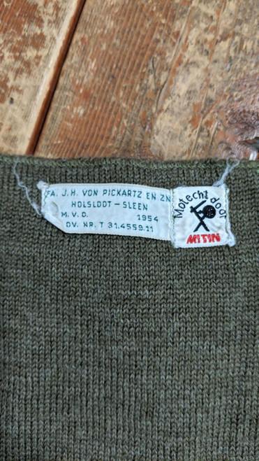 Vintage Dutch Military Wool Scarf