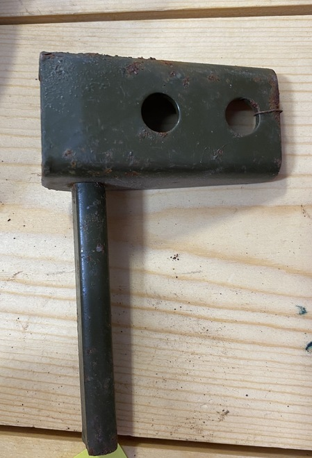 M38A1 Radiator Support Bracket and Pin Right Side