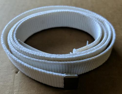Women's White Cotton Belt No Buckle