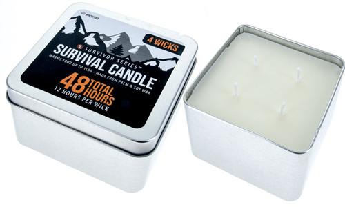 Sona Enterprises 4 Wick Survival Candle 48 Hours