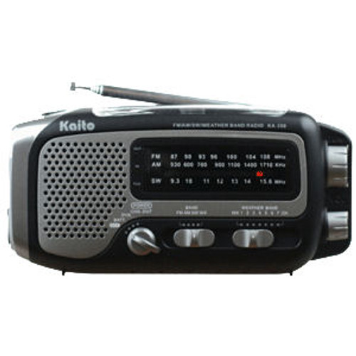 Kaito Voyager Trek KA350 Black Dynamo & Solar Powered Radio
