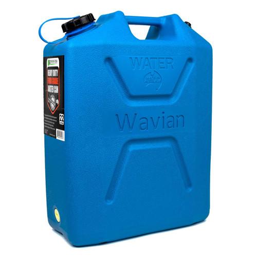 Wavian Water Can — 5 Gallon (22 Liter) Blue