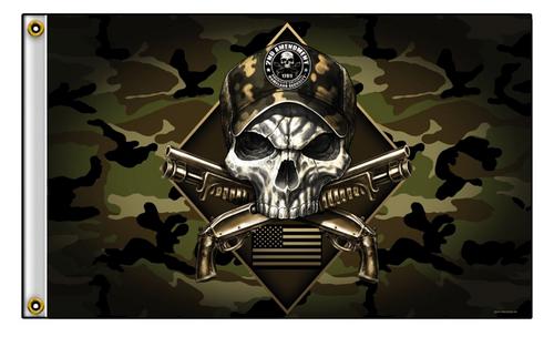 Camo Skull Flag 2nd Amendment