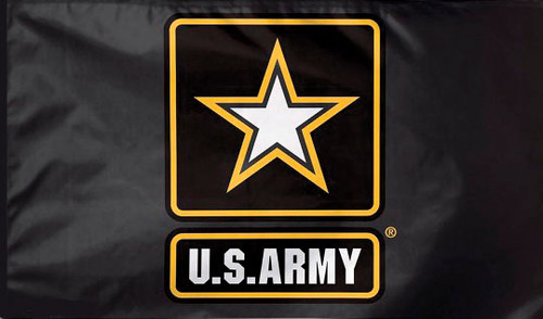 Army W/Star 2-Sided Embroidered Flag 3 ft x 5 ft