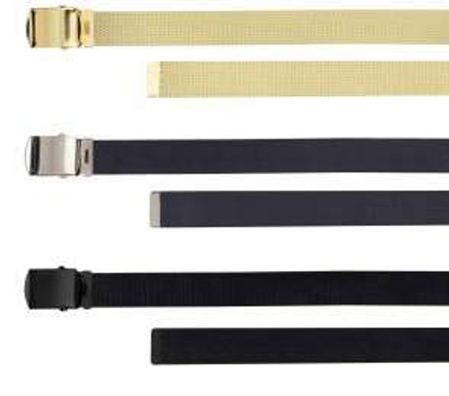 Rothco 54 Inch Military Web Belts in 3 Pack Khaki/Navy/Black