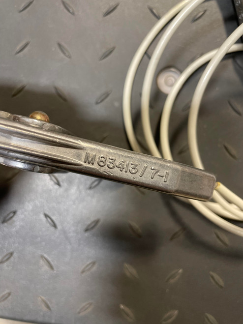 Military Issue Electrical Lead Cable with Grounding Clamps