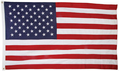 USA Embroidered 210D Polyester Flag 5 x 8