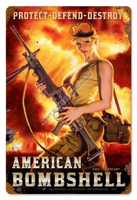American Bombshell Vintage Sign