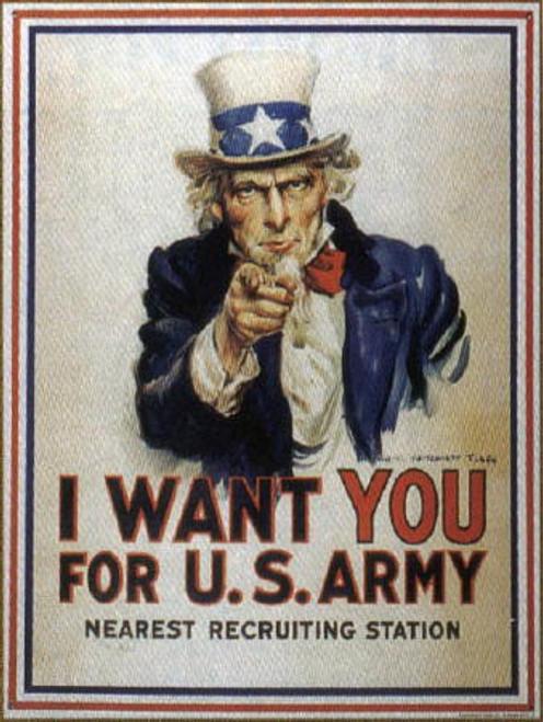 I Want You Tin Sign