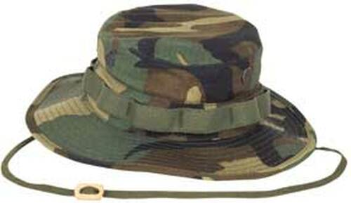 64db49af8d5 Military Style Woodland Boonie Hat