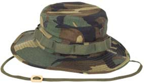 Military Style Woodland Boonie Hat