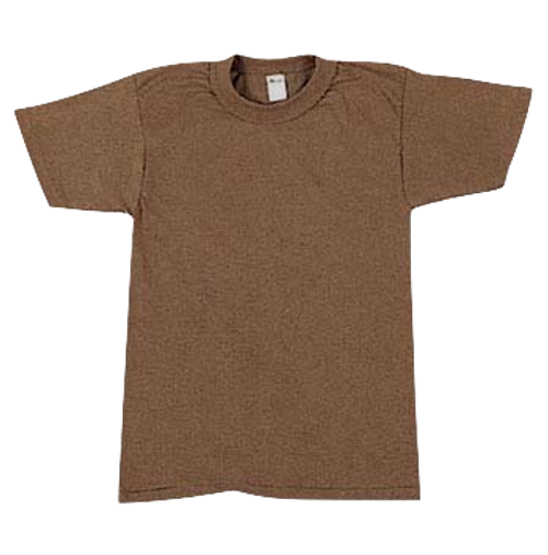 Military Issue Brown T-Shirt (Undershirt)3 Pack MEDIUM