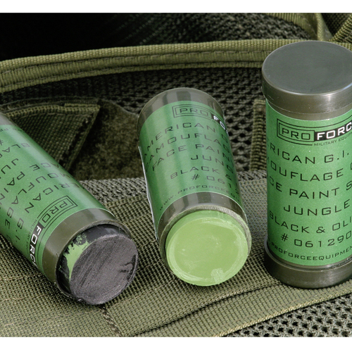 ProForce American G.I. Style Camouflage Cream Face Paint Stick JUNGLE: LOAM & OLIVE