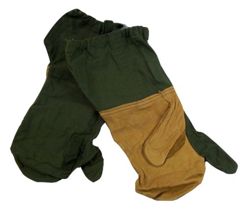 Genuine Issue M1951 Trigger Finger Mittens Old Style:Mitten Shell & Liners Y-35
