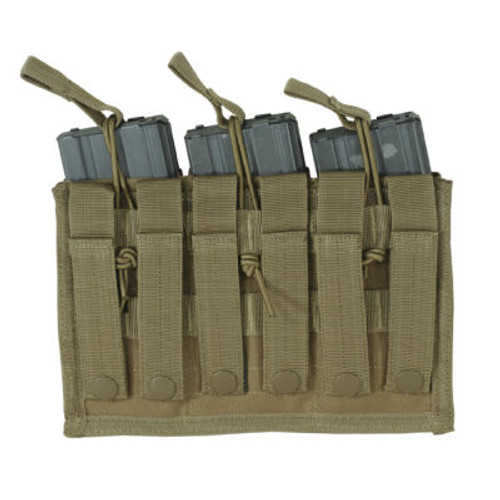VOODOO TACTICAL M4/M16 OPEN TOP MAG POUCH W/ BUNGEE SYSTEM