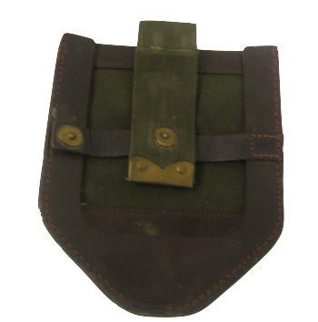 Straight Shovel Cover with Open Back WW2 Repro German Spade Carrier Leather