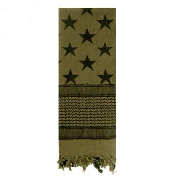 Plo Neckerchief Scarf Palestinian Shemagh Olive Drab or Uni Camo Scarf Army