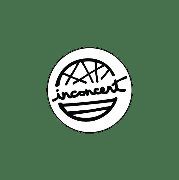 Bumper Sticker - Primary Inconcert Logo 4x4 Round Black and White