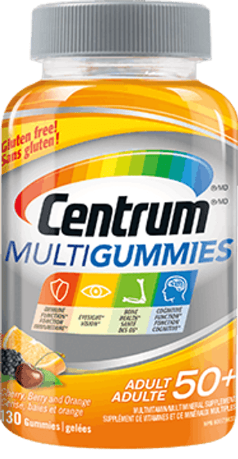 CENTRUM MULTIGUMMIES ADULT 50+ Multivitamin, 130 GUMMY