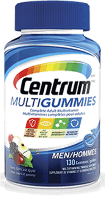CENTRUM MULTIGUMMIES MEN GUMMY Multivitamin, 130/Bottle