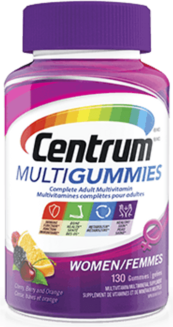 CENTRUM MULTIGUMMIES WOMEN Multivitamin, 130 Gummy/Bottle