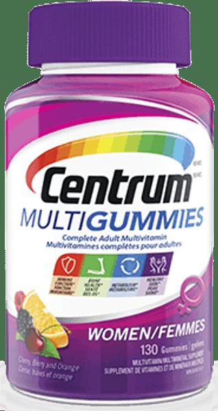 CENTRUM MULTIGUMMIES WOMEN Multivitamin, 130 Gummy/Bottle
