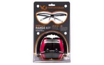 PYRAMEX Venture Ever-Lite Black/Pink Safety Glasses and Pink Earmuff Range Kit (VGCOMBO8617)