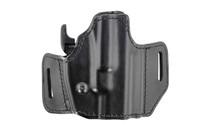 BIANCHI 126GLS Assent Right Hand Belt Slide Plain Leather Holster Fits CZ P-09 and Similar (54501)