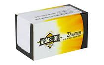 ARMSCOR 22 WMR 40 Grain 50rd Box of Jacketed Hollow Point Rimfire Ammunition (FAC22M1N)