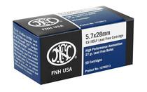 FN AMERICA Self Defense 5.7X28mm 27 Grain 50rd Box of Lead Free Cetnerfire Rifle Ammunition (10700013)