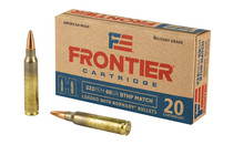 HORNADY Frontier Cartridge 223 Rem 68 Grain 20rd Box of Boat Tail Hollow Point (FR160)