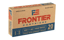 HORNADY Frontier Cartridge 223 Rem 20Rd Box Boat Tail Hollow Point Ammo