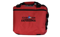 TGE 12 pack Red Canvas Cooler