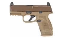 "FNH FN-509 Compact MRD 9mm Luger Semi Auto Pistol 3.7"" Barrel 15 Rounds Optics Ready Ambi Controls FDE No Manual Safety Semi-Auto Compact Pistol (66100574)"