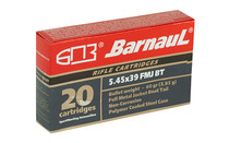 BARNAUL 5.45X39mm 60 Grain 20rd Box of Full Metal Jacket Centerfire Rifle Ammunition (BRN545x39FMJ60)