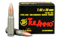 TULAMMO 7.62x39mm 122 Grain 20rd Box of Full Metal Jacket Centerfire Rifle Ammunition (UL076201)
