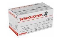 WINCHESTER 45ACP 230Gr 100Rd Box of Full Metal Jacket Handgun Ammunition (USA45AVP)