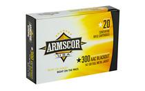 ARMSCOR 300AAC Blackout 147Gr 20Rd Box of Full Metal Jacket Ammunition (FAC300AAC-1N)