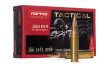 NORMA AMMUNITION Tactical .308 Win 150 Grain 20rd Box of Rifle Ammunition (20177262)