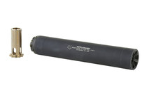 GRIFFIN ARMAMENT Resistance 45 7.9in 17-4PH Stainless Steel Black Type III Hardcoat Anodized Finish Suppressor (GARS45)
