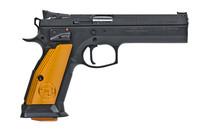 CZ USA CZ-75 TS Orange Grip 9mm 5.23in Barrel 17rd Black Frame Semi-Auto Competition Pistol (91261)