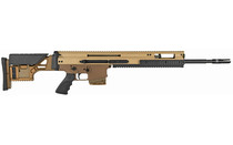 FN America SCAR 308 Win 762NATO 10Rd 20in Barrel FDE Precision Adj Synthetic Stock and Cheek Piece Hogue Grip Two Stage Geissele Super SCAR Trigger Semi-Auto Rifle (38996)