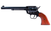HERITAGE Rough Rider .22 LR and .22 Magnum 6.5in Barrel 6rd Blued Frame Wood Grips Fixed Sights Single Action Army Revolver (RR22MB6)