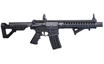 CROSMAN DPMS SBR 430FPS 6 Position Adjustable Stock Blowback Action 25rd Dropout Mag Flip Up Iron Sights Angled Foregrip Black Finish Full Auto BB Air Rifle (DSBR)