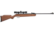 CROSMAN Vantage .177 Break Barrel Spring Powered  Wood Stock Fiber Optic Front Sight and Adjustable Rear Sight with 4X32 Scope Single Shot 1200FPS Air Rifle (30021)