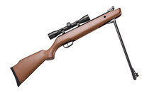 CROSMAN Vantage .177 Break Barrel Spring Powered  Wood Stock Fiber Optic Front Sight and Adjustable Rear Sight with 4X32 Scope Single Shot 1200FPS Air Rifle (30021)