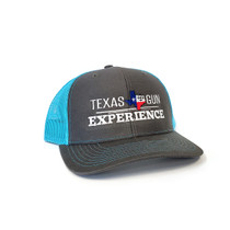 TGE Branded Gray and Blue Trucker Style Snap Back Hat (TGETRUCKGB)