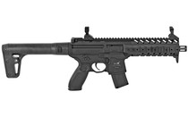 SIG SAUER MPX .177 Pellet 88 Gram Rugged Full Synthetic Stock 30rd Metal Housing Tactical Foregrip 600FPS Semi-automatic CO2 Air Rifle (AIR-MPX-177-88G-30-BLK)