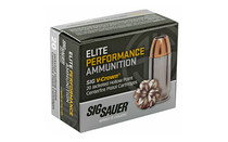 SIG SAUER 40SW 180Gr Elite Performance V-Crown Jacketed Hollow Point 20rd Box of Centerfire Ammunition (E40SW2-20)